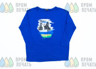 Синие футболки с логотипом «CYNICALLY OPTIMISTIC»