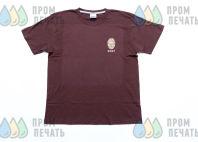Бордовые футболки с логотипом «SORT»