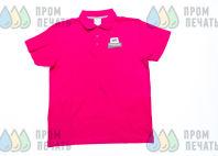 Розовые футболки-поло с логотипом «FERPLAST»