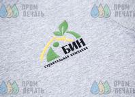 Серые футболки с надписью «БИН»