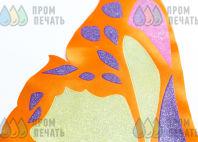 Двухцветных ткань с изображением крыльев