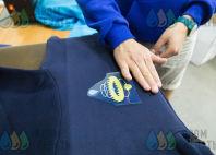 Синие толстовки с логотипом «ГИДРОФОРС»