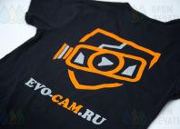 Футболки и толстовки с логотипами для EVO-CАМ