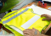 Желтые сигнальные жилеты с надписью «Пресня Сервис»