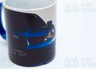 Печать логотипа Subaru на кружке-хамелеон