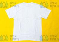 Белые хлопковые футболки с надписью «АУТЛЕТ бытовой техники»