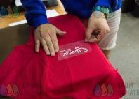 Красная футболка-поло с логотипом «becar»