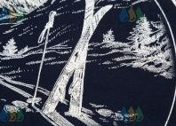 Черные с белым кантом футболки-поло с логотипом «ALPINE SKI FEDERATION»