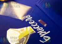 Синие толстовки с логотипом «Брюссель»