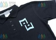 Черные футболки-поло с логотипом «MAKE WINNERS»