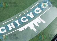 Черные футболки с логотипом «CHICAGO»