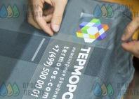 Серые лонгсливы с логотипом «ТЕРМОРОС»