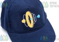 Синие бейсболки с логотипом «ГИДРОФОРС»