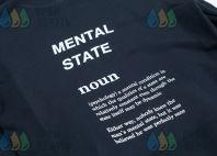 Черная толстовка с надписю «MENTAL STATE»