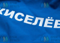 Синие мембранные куртки с надписью «Киселев В.»