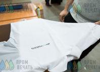 Белые футболки-поло с текстом «ИНЖСТРОЙСЕТЬ»