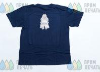 Синие футболки с изображеним самурая в доспехах