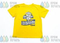 Желтые футболки с изображением «Максатиха»