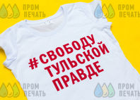 Белых футболки с надписью «#СвободуТульскойПравде»