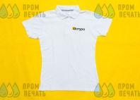 Белая футболка с логотипом «Шатура»
