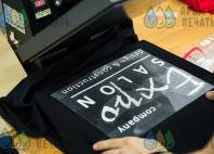 Черные толстовки с логотипом «ExpoSalon»