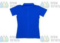 Синие футболки-поло с текстом «Парк Горького»