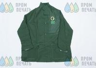 Зеленые плащи с логотипом «КБиО»
