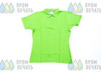 Зеленые футболки-поло с логотипом «FERPLAST»