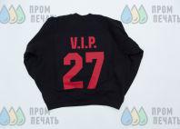 Черный свитшот с изображением «VIP»