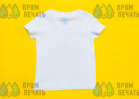 Белые детские футболки с надписью «ROMANENKO»