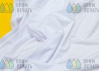 Белая ткань (бифлекс) с логотипом «KVANT»