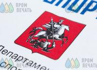 Белые футболки с логотипом «Московский спорт»