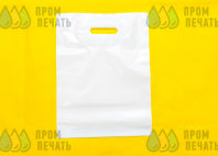 Белые пакеты с текстом «Ателье»
