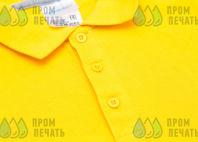 Желтая футболка-поло с логотипом «becar»
