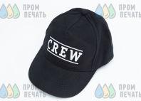 Черные бейсболки с логотипом «CREW»