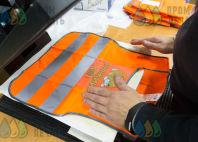 Оранжевые сигнальные жилеты с логотипом «Рыжий кот»