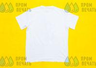 Белая футболка с изображения в виде соболя в футболке
