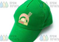 Зеленые бейсболки с логотипом «Sushi hit»