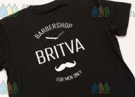 Черные футболки с логотипом «barbershop BRITVA»