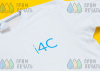 Белые футболки с надпись «i4C»