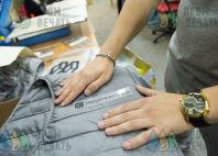 Серые жилеты с логотипом «Политехстрой»
