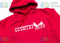 Красные толстовки с изображением «Country»