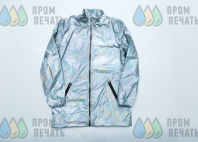 Серебряные куртки с изображением скан-код