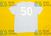 Оранжевые футболки-поло с логотипом «КВА КВА ПАРК»