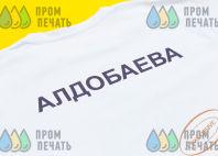 Белые футболки с логотипом «МИГ»