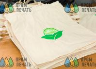 Бежевые эко-сумки с логотипом «День эколога»