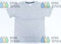 Серая футболка с логотипом «ВОЛОК»