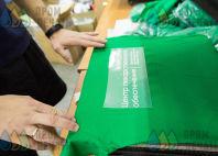 Зеленые хлопковые футболки с логотипом «АПТЕКИ СТОЛИЦЫ»