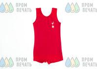 Красные детские боди с логотипом «ДИНАСТИЯ»