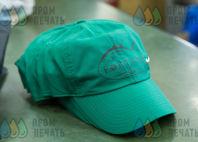 Зеленые бейсболки с логотипом «FORTUNA»